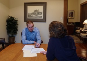 CA Bankruptcy Lawyer Ryan Henderson with Client